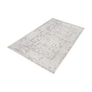 Belleville Handknotted Ivory 8 ft. x 10 ft. Wool and Bamboo Viscose Rug