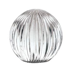 Ribbed Glass Globe
