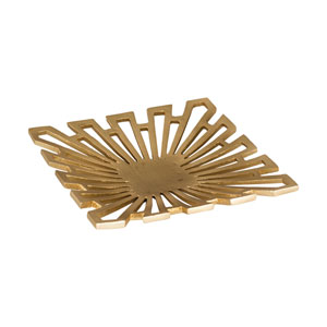 Greek Starburst Gold Tray