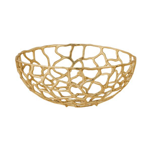 Free Form Gold 20-Inch Bowl