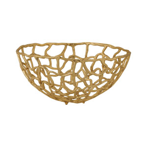 Free Form Gold 16-Inch Bowl