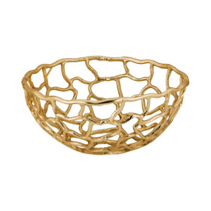 Free Form Gold 12-Inch Bowl