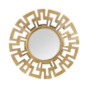 Cast Antique Gold 24-Inch Round Mirror