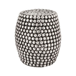 Pewter Pebble Antique Stool
