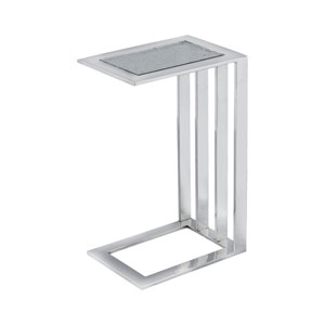 Züri  Polished Nickel Accent Table