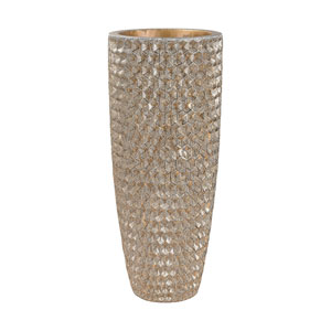 Geometric Textured Gold Vase