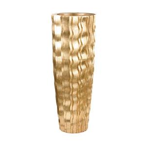 Wave Vessel Gold 47-Inch Vase