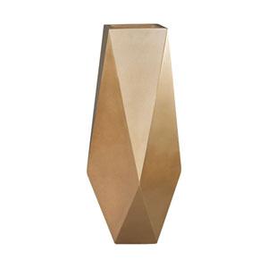 Qattara Champagne Gold 21-Inch Vase