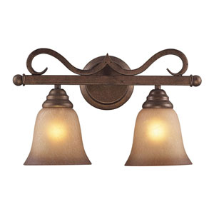 Lawrenceville Mocha Two-Light Wall Sconce
