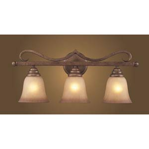 Lawrenceville Mocha Three-Light Bath Fixture