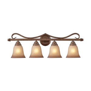 Lawrenceville Mocha Four-Light Vanity