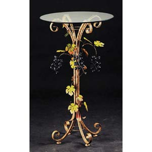 Muscadine Fawn Beige End Table