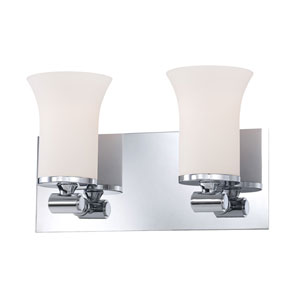 Flare Chrome Two-Light Vanity