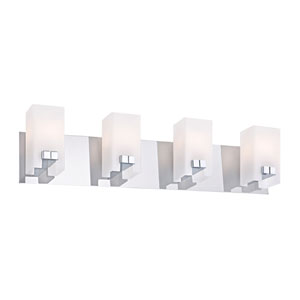 Gemelo Chrome Four-Light Vanity