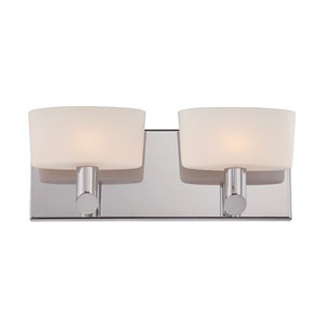 Toby Satin Nickel Two-Light Vanity