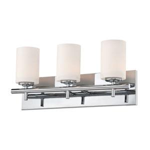 Barro Chrome Three-Light Vanity