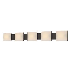 Pannelli Oil Rubbed Bronze Fluorescent Five-Light Vanity