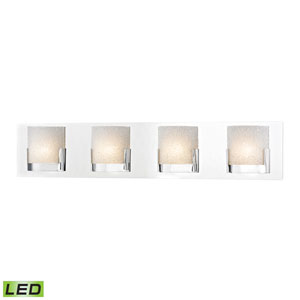 Ophelia Chrome LED Four-Light Vanity