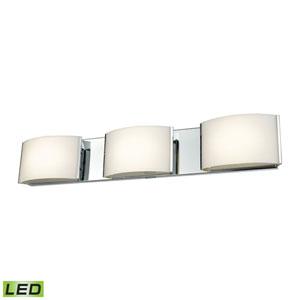Pandora LED Chrome Three-Light Vanity