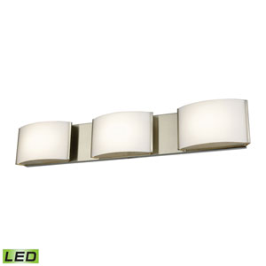 Pandora LED Satin Nickel Three-Light Vanity