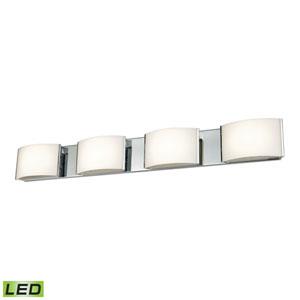 Pandora LED Chrome Four-Light Vanity