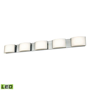 Pandora LED Chrome Five-Light Vanity