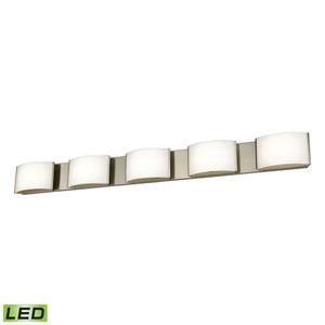 Pandora LED Satin Nickel Five-Light Vanity