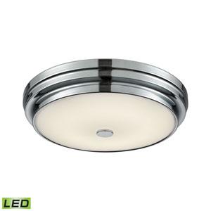 Garvey Chrome LED One-Light 12-Inch Flush Mount
