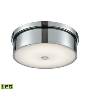 Towne Chrome LED One-Light 12-Inch Flush Mount