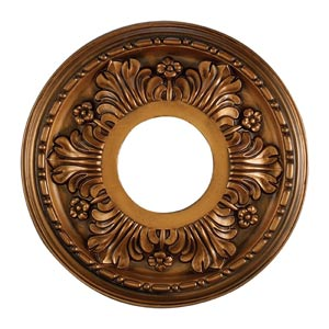 Acanthus Antique Bronze 11-Inch Ceiling Medallion
