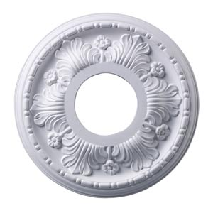 Acanthus White 11-Inch Ceiling Medallion