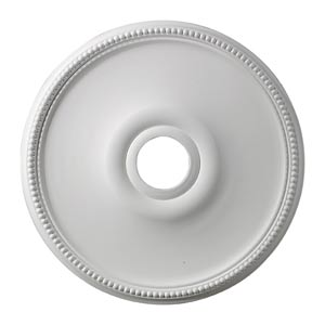 Brittany White 19-Inch Ceiling Medallion