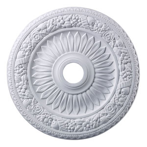 Floral Wreath White 24-Inch Ceiling Medallion