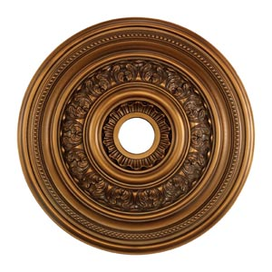 English Study Antique Bronze 24-Inch Ceiling Medallion