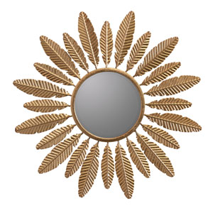 Adele Gold Round Mirror