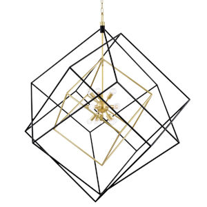 Round out Aged Brass Black 15-Light Pendant