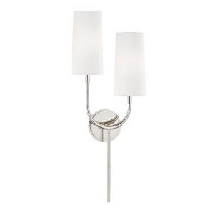 Vesper Polished Nickel Two-Light Wall Sconce