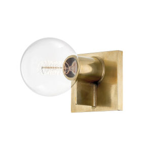 Bodine Aged Brass 5-Inch One-Light Wall Sconce