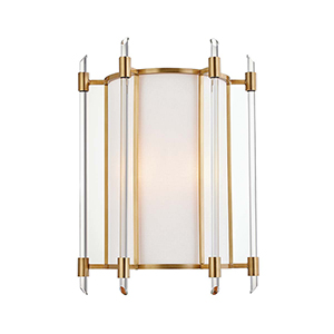 Delancey Aged Brass Two-Light Wall Sconce