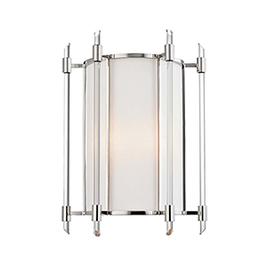 Delancey Polished Nickel Two-Light Wall Sconce