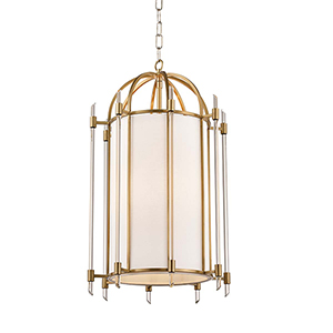 Delancey Aged Brass Four-Light Pendant