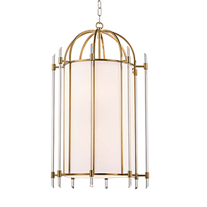 Delancey Aged Brass Eight-Light Pendant