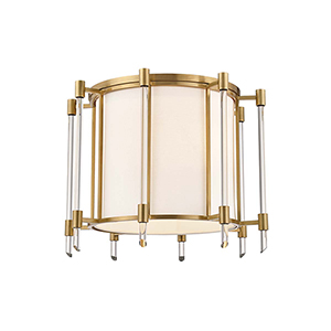 Delancey Aged Brass Four-Light Semi Flush