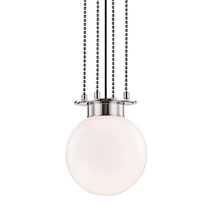 Gunther Polished Nickel 11-Inch Pendant
