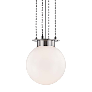 Gunther Polished Nickel One-Light Pendant