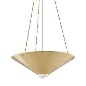 Heron Aged Brass Four-Light LED Pendant