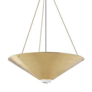 Heron Aged Brass Six-Light LED Pendant