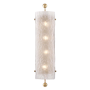 Broome Aged Brass Four-Light Wall Sconce