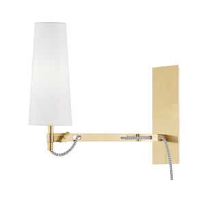 Lanyard Aged Brass LED Wall Sconce