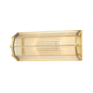 Wembley Aged Brass Two-Light ADA Wall Sconce
